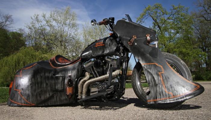 Harley Davidson Sportster 1200 Led Sled custom statyka z