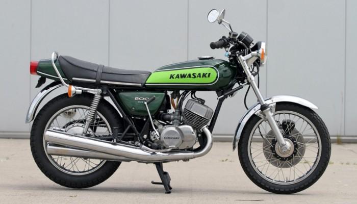 05 Kawasaki H1 Mach 3 zielony z