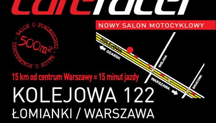 Cafe Racer Warszawa - Łomianki – nowy salon i serwis motocykli