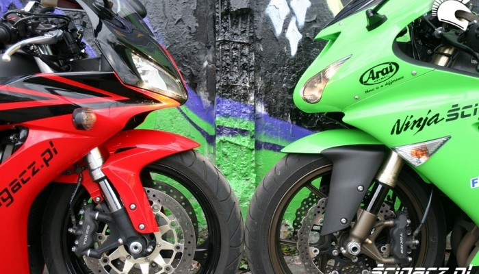 Kawasaki ZX 10R kontra Honda CBR 1000 RR, czyli gwiezdne wojny