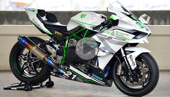 Kawasaki H2R przy 385 km/h - video z pokładu