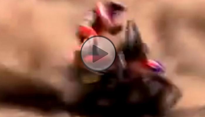 Rajd Dakar - potężny wypadek i niesamowita reakcja kierowcy