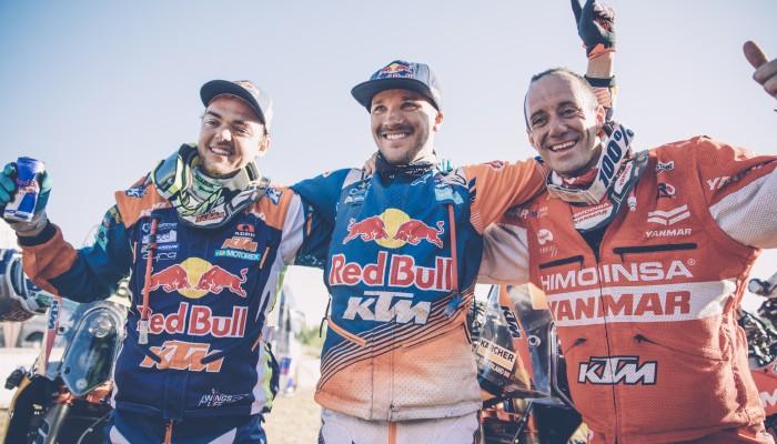 16. zwycięstwo KTM-a w Dakarze! Całe motocyklowe podium w 2017 roku dla zawodników na KTM 450 Rally!