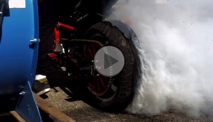 Palenie gumy i wybuch opony w zwolnionym tempie