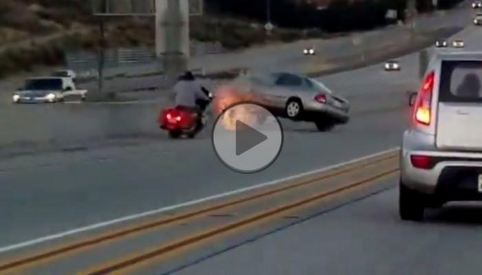 motocykl vs auto z