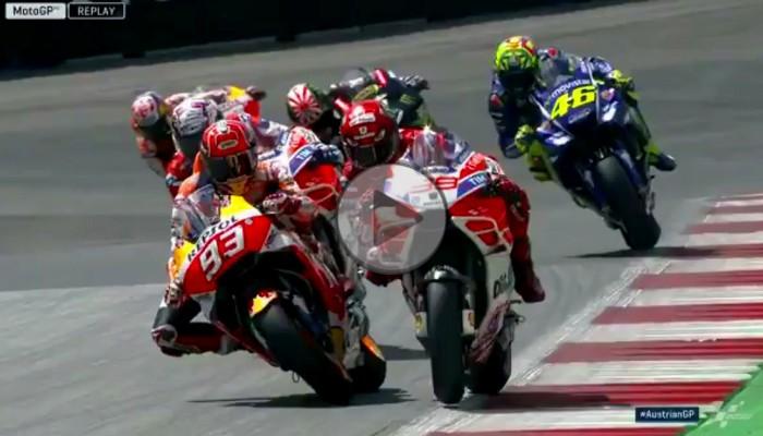 Walka na łokcie do ostatniego zakrętu - wyścig MotoGP - Grand Pirx Austrii