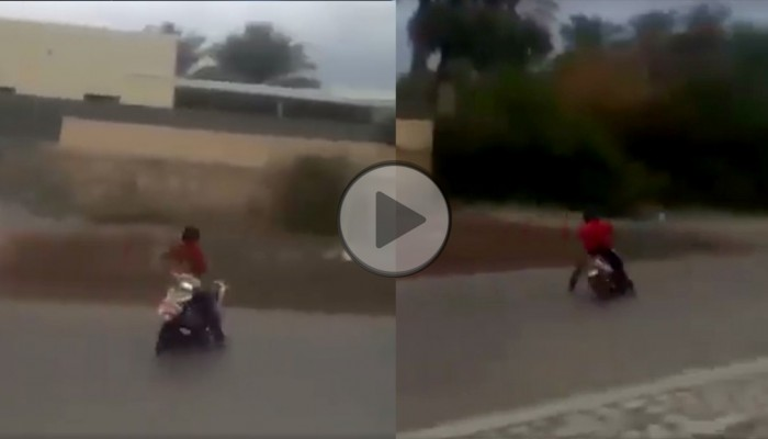 Zakręcony drift skuterem