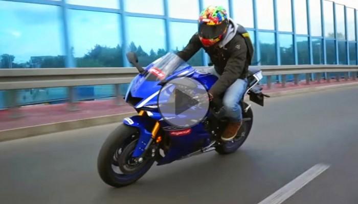 Yamaha R6 - nowa, udoskonalona i... samotna (test video)