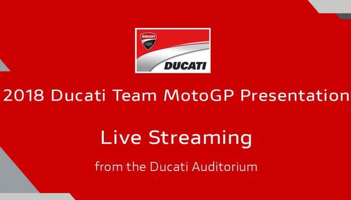 Prezentacja teamu Ducati MotoGP - transmisja live w poniedziałek
