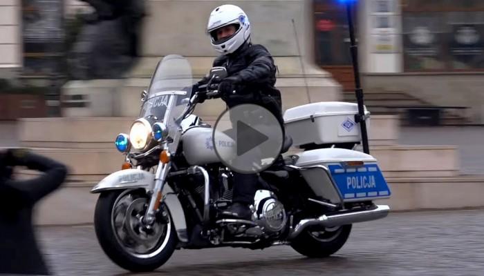 Policja w Rzeszowie Harley Davidson Road King  z