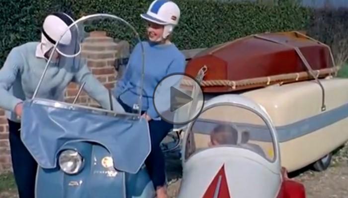 Turystyka rodzinna w 1959 roku - skuter i tona bagażu
