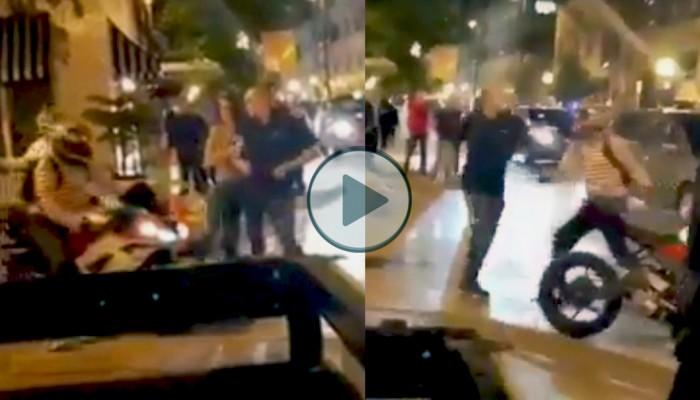 Zaatakował motocyklistę, został boleśnie ukarany