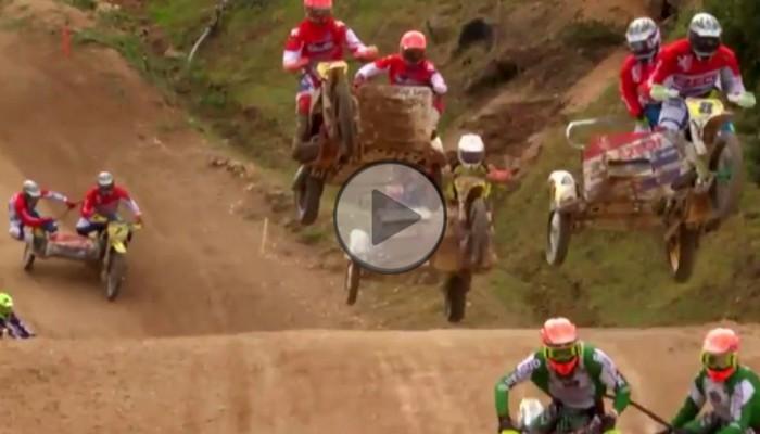 Motocross z bakaliami - skoki we dwójkę