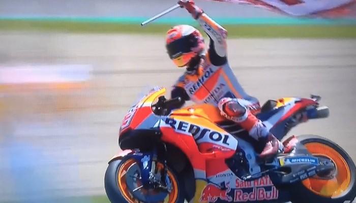 Marquez wygrywa wyścig MotoGP w Jerez, a za jego plecami…wojna i MEGA GLEBA