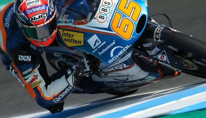 Niemiecki hymn po dramatycznym wyścigu Moto3 na torze Jerez - Angel Nieto