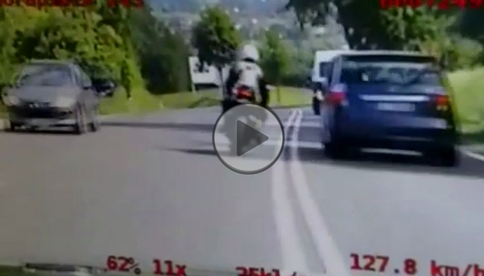 80pkt karnych dla motocyklisty z