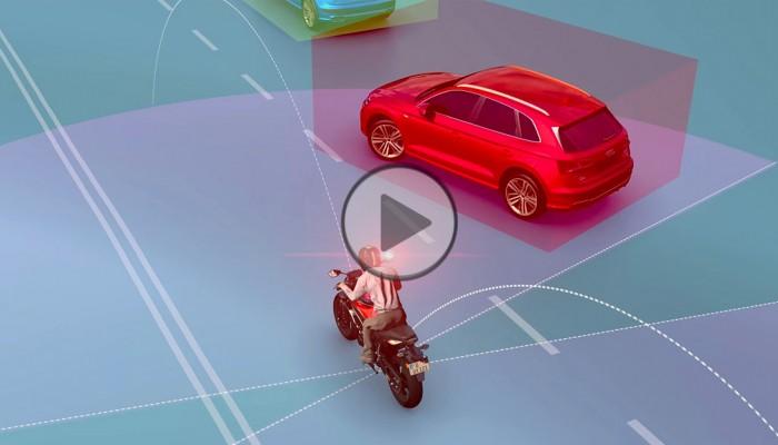 Bezpieczeństwo na motocyklu. System CAT ostrzeże przed kolizją [FILM]