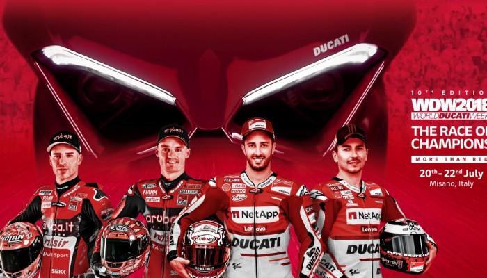World Ducati Week 2018. Wyścig mistrzów na torze w Misano