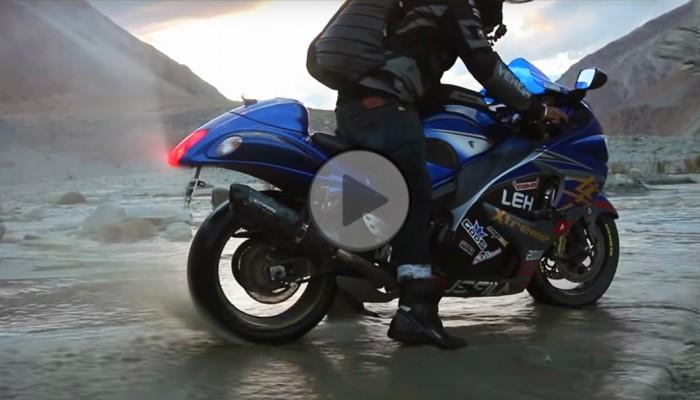 Hayabusą przez szutry i strumienie. Czy Suzuki da radę w Himalajach? [FILM]