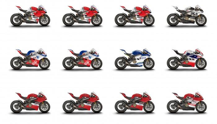"12 sztuk Ducati Panigale V4S z ""Wyścigu Mistrzów"