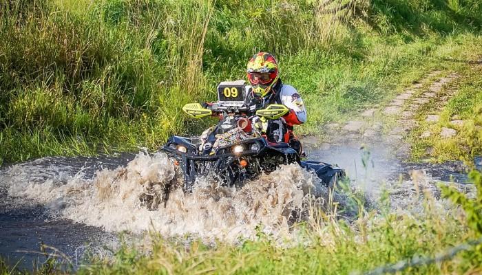 Radek Lindner na podium Rajdu Polskie Safari 2018