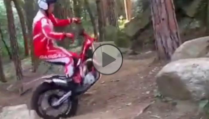 Leśne wheelie, czyli trial w poszukiwaniu przedniego koła [FILM]