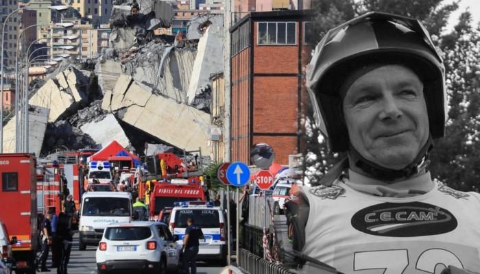 Mistrz Włoch w trialu wśród ofiar katastrofy w Genui