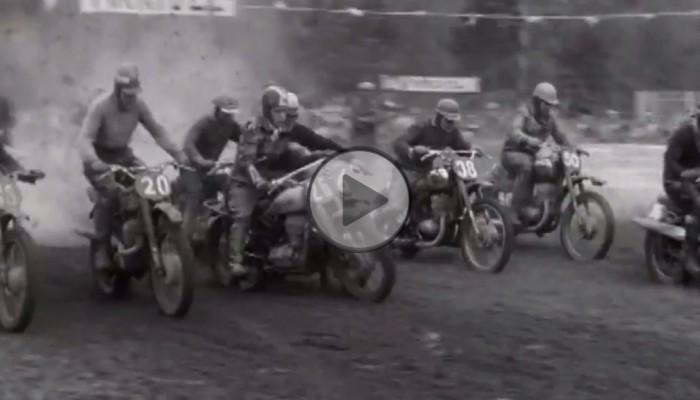 Tak to leciało - skąpane w błocie zawody motocrossowe w Genewie w 1959 roku