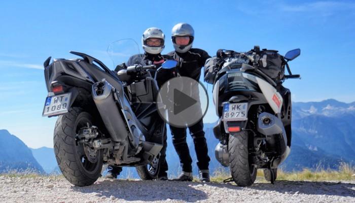 Skuterami w Alpy. Testujemy Kymco AK 550 i Xciting 400 w Słowenii i Austrii