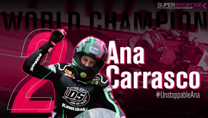 Ana Carrasco - pierwsza kobieta Mistrzem Świata