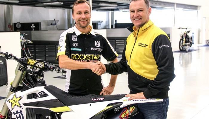 Zespół Husqvarna MXGP podpisał trzyletnią umowę z Dunlopem
