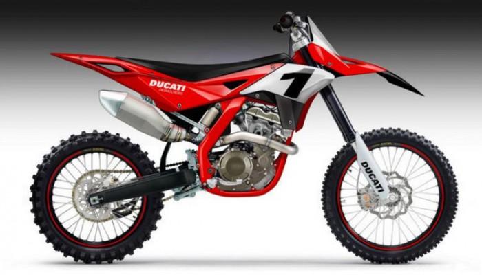 Motocykl crossowy Ducati. Plotki i marzenia