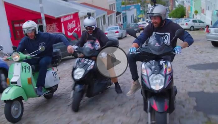 Travis Pastrana i Nitro Circus w szalonym wyścigu na… skuterach [FILM]