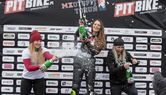 Dominika Orlik na pierwszym miejscu w Pucharze Polski Pitbike Supermoto!