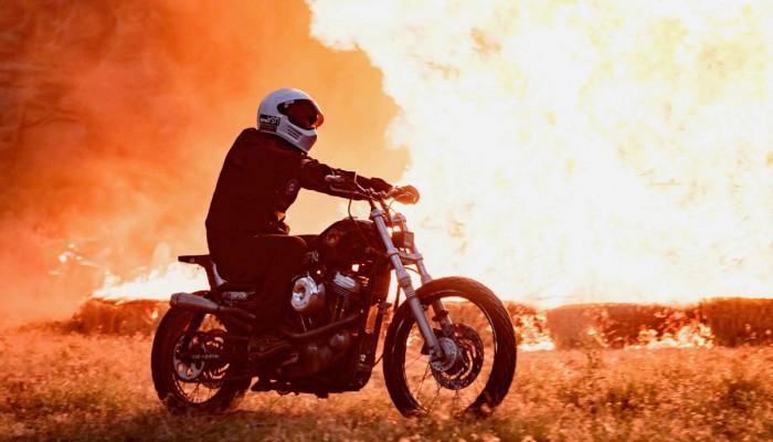 Motocykl ogien z