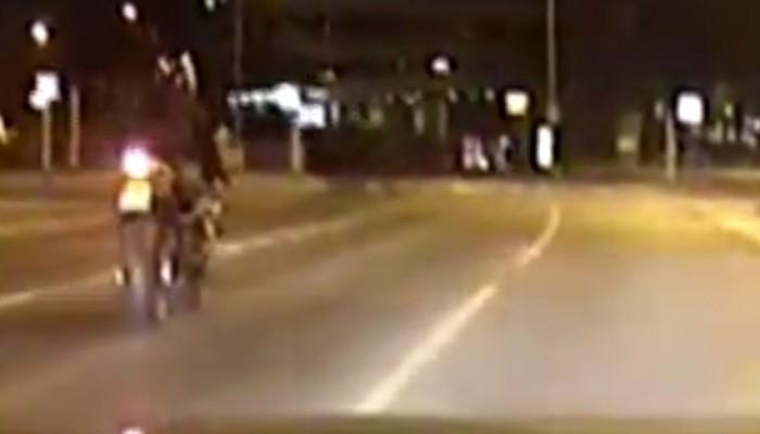 motocyklista wroclaw 143kmh brak badan bez prawo jazdy  z