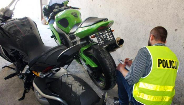 policja odnalazla motocykle z