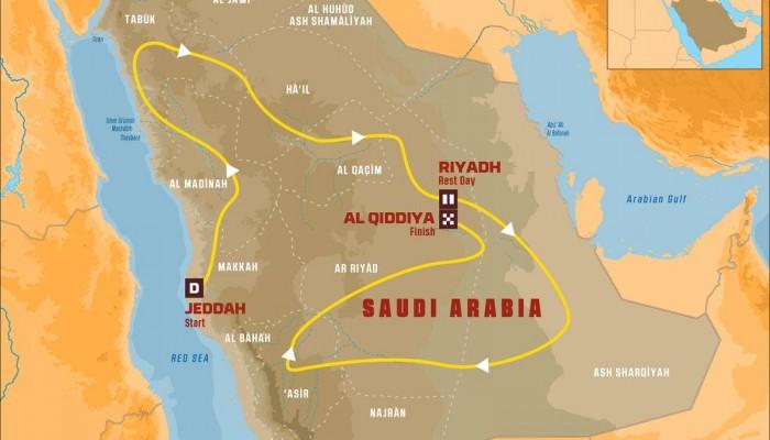 Trasa Rajdu Dakar 2020 potwierdzona [MAPA]