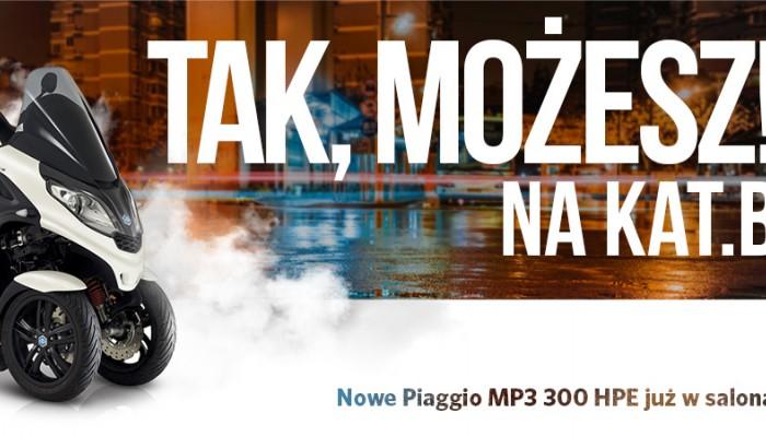 Piaggio MP3 300 HPE już w Polsce!