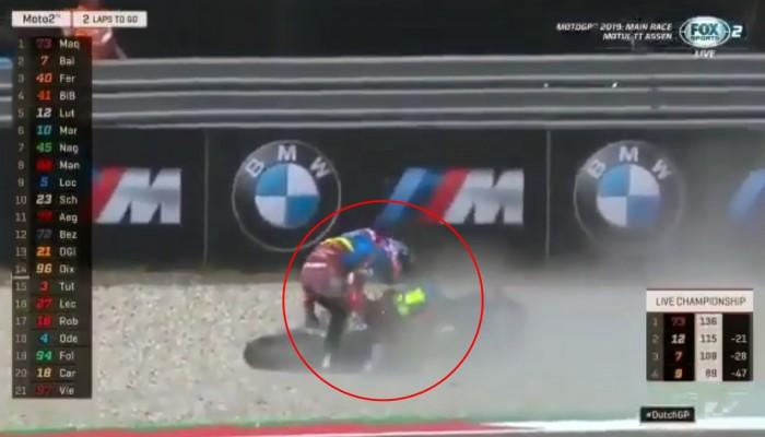 Moto2: Marquez przeprosił Baldassarriego za agresywną reakcję po wywrotce