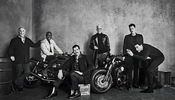 Elita amerykańskiej komedii w niezwykłej sesji zdjęciowej z motocyklami Triumph