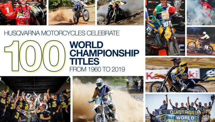 HUSQVARNA MOTORCYCLES CELEBRATE 100 WORLD CHAMPIONSHIP TITLES z
