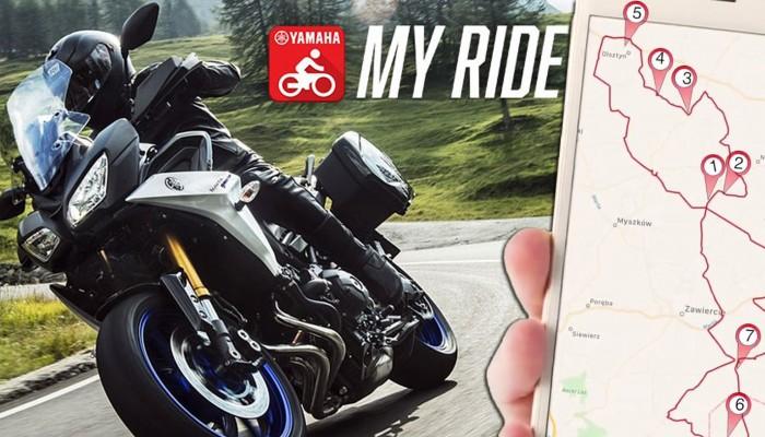 Aplikacja Yamaha My Ride. Inspiracje, telemetria i dziennik podróży