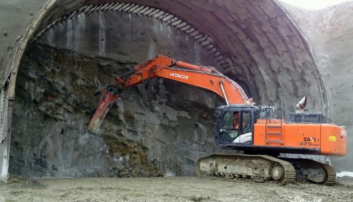 Budowa tunelu S7 2 z