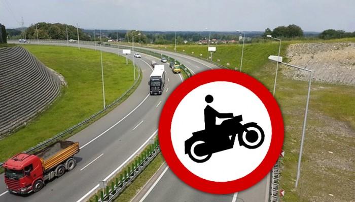 droga zakaz dla motocykli z