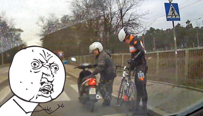 skuter kontra rower z