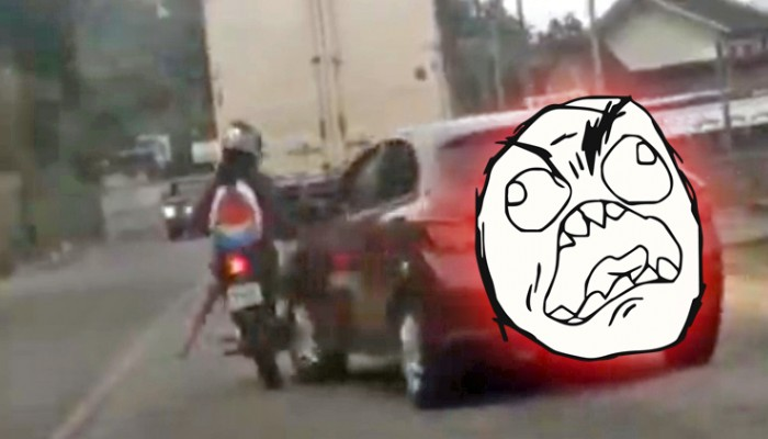 agresja drogowa z