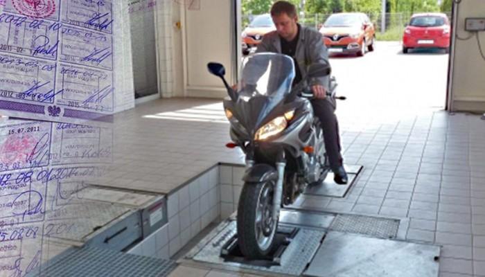 przegld techniczny motocykla z