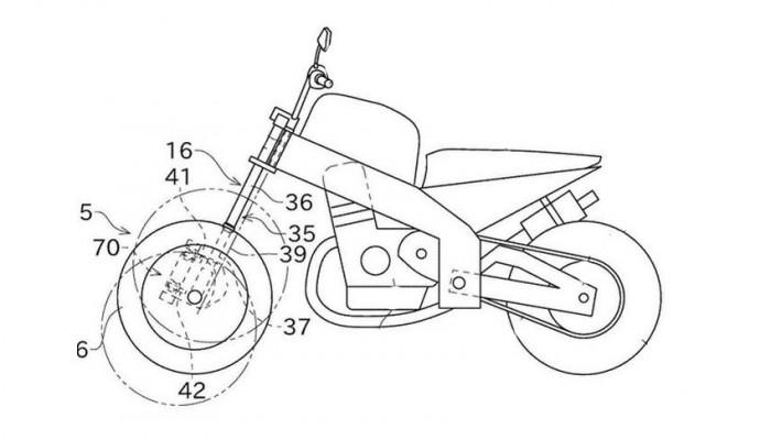 patent dwukolowej osi przedniej kawasaki z