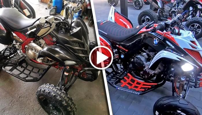 Quad z silnikiem Superbike: Yamaha Raptor z silnikiem BMW S1000R - wywiad ATV Swap Garage